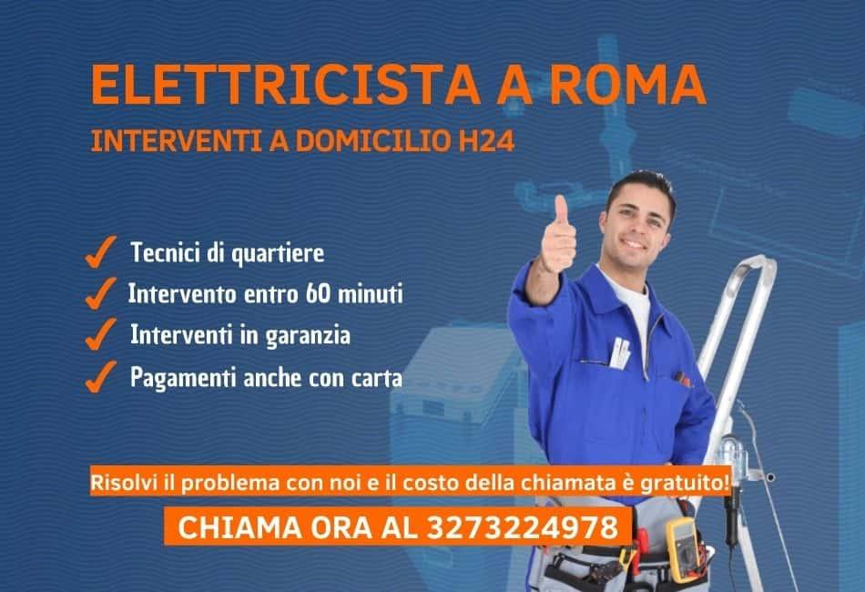 elettricista roma pronto intervento h24